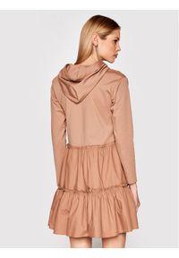 Brązowa sukienka dzianinowa Rinascimento
