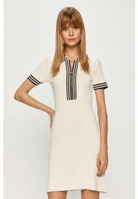 Biała sukienka Morgan na co dzień, mini, prosta