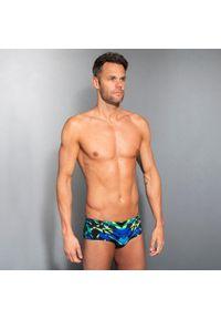 NABAIJI - Slipki-opaska pływackie 900 KAL męskie. Kolor: wielokolorowy, zielony, niebieski, czarny. Materiał: poliamid, materiał, poliester