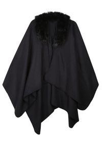 Czarny sweter TOP SECRET w kolorowe wzory, elegancki, na jesień