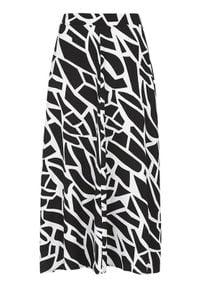 Cellbes Szeroka spódnica we wzory Czarny we wzory female czarny/ze wzorem 42/44. Kolor: czarny. Materiał: guma. Wzór: kwiaty