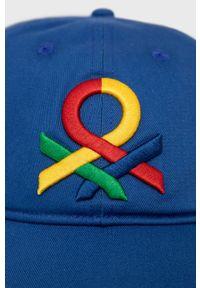 United Colors of Benetton - Czapka. Kolor: niebieski