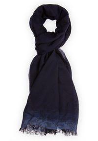 Niebieski szalik Lancerto na co dzień, na zimę, paisley