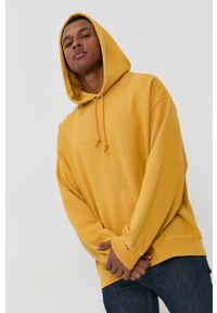 Levi's® - Levi's - Bluza bawełniana. Okazja: na spotkanie biznesowe. Kolor: żółty. Materiał: bawełna. Wzór: gładki. Styl: biznesowy