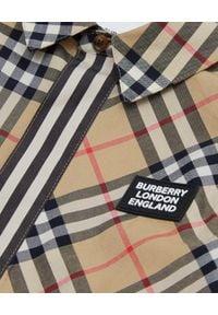 BURBERRY CHILDREN - Bawełniana koszula z krótkim rękawem 4-12 lat. Kolor: beżowy. Materiał: bawełna. Długość rękawa: krótki rękaw. Długość: krótkie. Wzór: aplikacja. Sezon: lato. Styl: elegancki