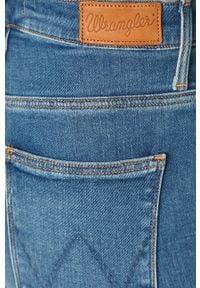 Wrangler - Jeansy. Kolor: niebieski. Materiał: jeans. Wzór: aplikacja #2