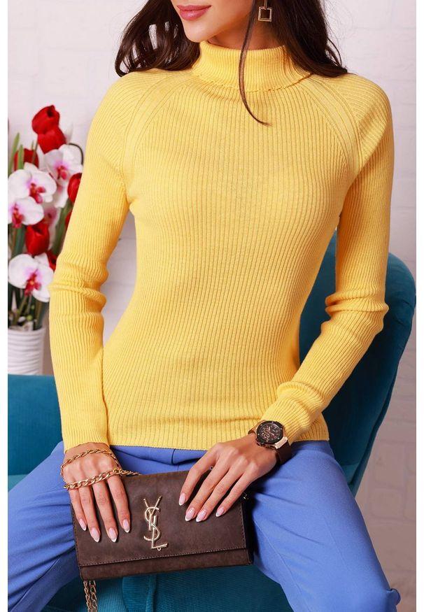 Żółta bluzka IVET z golfem