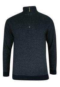 Szary sweter Pako Jeans klasyczny, bez kaptura