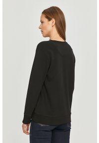 Czarna bluza DKNY z nadrukiem, z długim rękawem
