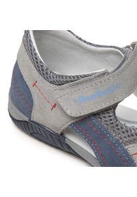 RenBut - Sandały RENBUT - 31-4401 Popiel/Jeans. Kolor: szary. Materiał: skóra, zamsz. Sezon: lato. Styl: klasyczny, wakacyjny