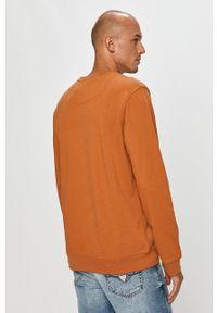 Brązowa bluza nierozpinana Clean Cut Copenhagen casualowa, bez kaptura, na co dzień, z aplikacjami