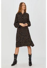 Czarna sukienka Answear Lab mini, wakacyjna, na co dzień
