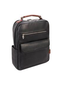 Czarny plecak MCKLEIN w paski