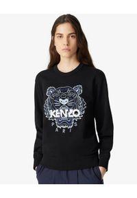 Kenzo - KENZO - Czarna bluza Tiger. Kolor: czarny. Materiał: bawełna. Długość rękawa: długi rękaw. Długość: długie. Wzór: aplikacja. Styl: klasyczny