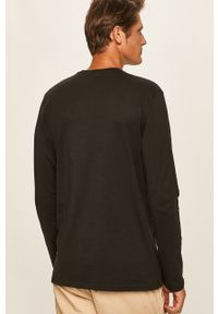 Czarna koszulka z długim rękawem Only & Sons na co dzień, z okrągłym kołnierzem