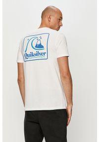 Biały t-shirt Quiksilver z nadrukiem