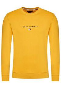 TOMMY HILFIGER - Tommy Hilfiger Bluza Essential MW0MW17383 Żółty Regular Fit. Kolor: żółty