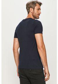 Niebieski t-shirt Jack & Jones na co dzień, casualowy, z okrągłym kołnierzem