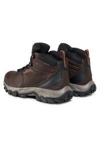 Brązowe buty trekkingowe columbia trekkingowe, z cholewką