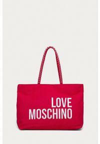 Love Moschino - Torebka. Kolor: różowy. Rodzaj torebki: na ramię