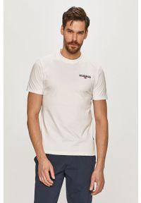 Biały t-shirt Napapijri na co dzień, casualowy, gładki