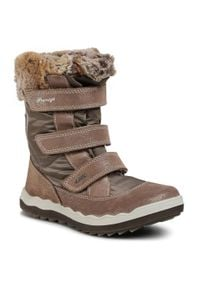 Primigi - Śniegowce PRIMIGI - GORE-TEX 6381533 D Vison. Okazja: na spacer. Kolor: różowy. Materiał: skóra, zamsz, materiał. Szerokość cholewki: normalna. Sezon: zima