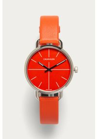 Pomarańczowy zegarek Calvin Klein