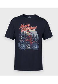 MegaKoszulki - Koszulka męska Motorcycle Santa. Materiał: bawełna