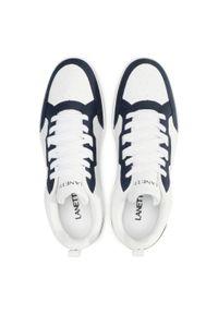 Lanetti - Sneakersy LANETTI - S21C184A-1 Cobalt Blue. Okazja: na co dzień. Kolor: biały. Materiał: skóra ekologiczna, materiał. Szerokość cholewki: normalna. Styl: casual