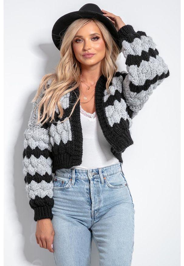 Szary sweter Fobya krótki