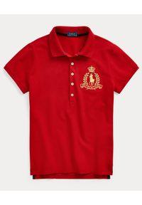 Ralph Lauren - RALPH LAUREN - Koszulka polo Slim Fit. Typ kołnierza: polo. Kolor: czerwony. Materiał: bawełna, prążkowany. Wzór: haft. Styl: klasyczny #5