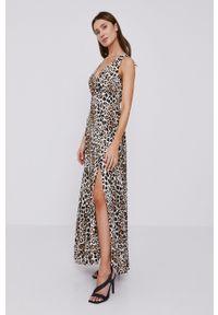 Morgan - Sukienka. Kolor: brązowy. Długość rękawa: na ramiączkach. Typ sukienki: rozkloszowane #1