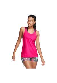 Koszulka damska treningowa Nike Icon Clash CU5043. Materiał: elastan, włókno, poliester, materiał. Długość rękawa: na ramiączkach. Technologia: Dri-Fit (Nike). Sport: fitness