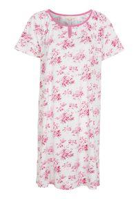 Cellbes Koszula nocna z krótkim rękawem różowy w kwiaty female różowy/ze wzorem 46/48. Kolor: różowy. Materiał: jersey. Długość: krótkie. Wzór: kwiaty