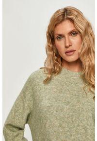Sweter Sportmax Code z okrągłym kołnierzem, z długim rękawem, długi