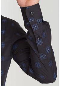 Czarna koszula Versace Collection na spotkanie biznesowe, na lato