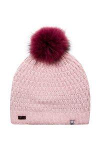 Różowa czapka Descente na zimę