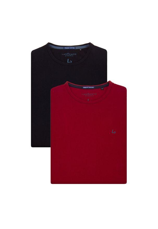 Lancerto - Zestaw 2 Koszulek Daniel. Okazja: na co dzień. Materiał: włókno, materiał, bawełna. Wzór: aplikacja. Sezon: lato, jesień, wiosna, zima. Styl: klasyczny, casual