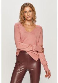 Różowy sweter Haily's z długim rękawem, długi