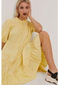 Żółta sukienka Y.A.S gładkie, na co dzień