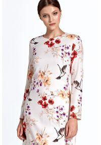 Sukienka elegancka, prosta, w kwiaty