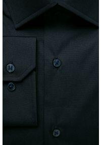Niebieska koszula Strellson z klasycznym kołnierzykiem, długa, klasyczna
