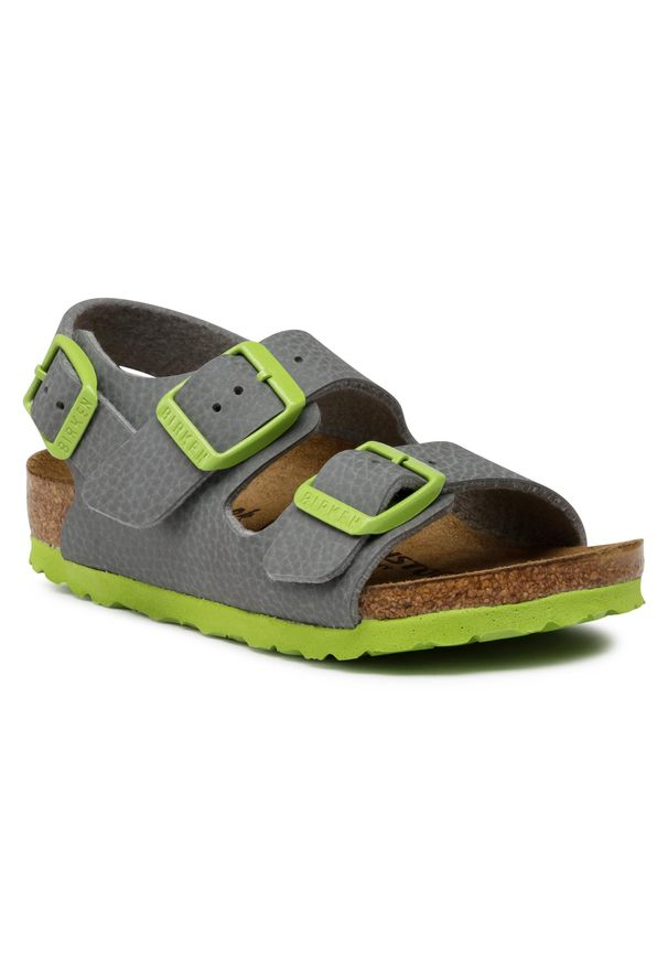 Szare sandały Birkenstock na lato, klasyczne