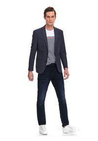 Niebieskie spodnie TOP SECRET do pracy, na wiosnę