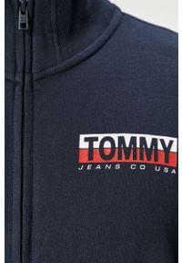 Niebieska bluza rozpinana Tommy Jeans bez kaptura, casualowa