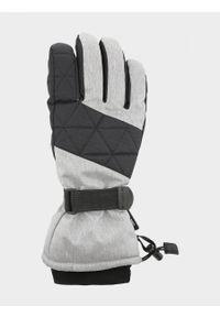 Szare rękawiczki sportowe outhorn melanż, narciarskie