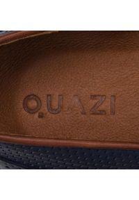 Półbuty QUAZI - QZ-03-02-000119 107. Okazja: na co dzień. Kolor: niebieski. Materiał: skóra. Wzór: aplikacja. Styl: elegancki, casual
