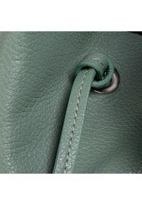 Zielona torebka klasyczna Creole skórzana, klasyczna