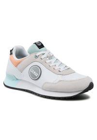 Colmar - Sneakersy COLMAR - Travis Mellow 141 White/Lt Blue/Peach. Okazja: na co dzień. Kolor: biały. Materiał: zamsz, materiał, skóra ekologiczna. Szerokość cholewki: normalna. Styl: casual