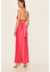 Różowa sukienka Glamorous maxi, bez rękawów
